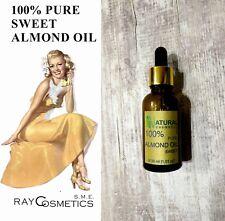 EU Grade 100% Pure Natural Essential Almond Oil 30ml - for skin, hair, nails