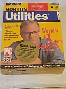 Brand New Norton Utilities Windows 95 v. 2.0 on CD 1997 Vintage Computing NIB