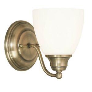 Livex Lighting Somerville Wall Sconces, Antique Brass - 13671-01