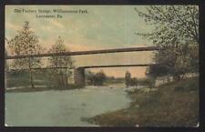 Postcard LANCASTER Pennsylvania/PA  Old Factory Park Covered Bridge view 1907