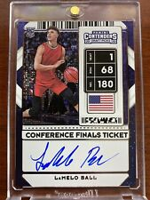 New Listing5/5 2020-21 Panini Contenders Conference Finals Ticket LaMelo Ball On Card Auto