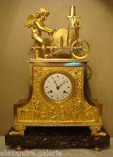PENDULE EN BRONZE DORE ''L'AMOUR REMOULEUR'' DIRECTOIRE (french Empire clock)
