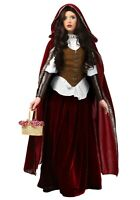 WOMEN'S DELUXE RED RIDING HOOD COSTUME USED SIZE MEDIUM (with defect)