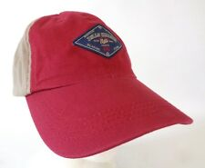 Bills Khakis Strapback Hat Sewn Patch Baseball Cap Red Beige Imperial USA Made