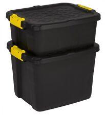 2 x Aufbewahrungsbox Box Kunststoffbox Lagerbox Material Kiste Deckel 2 Größen