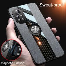 For Huawei Nova 8 Pro 7i Nova 5T 4e 3e Case Cloth Finger Ring Stand Magnet Cover