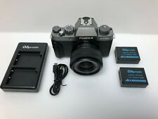 Fujifilm - X Series X-T100 Mirrorless Camera with 15-45mm Lens - Dark Silver