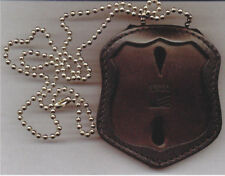 NYC EMS Officer Style Badge Cut-Out Neck Hanger w/Chain - (Badge Not Included)