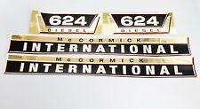 Aufklebersatz gold Aufkleber / Decal Kit / Emblem für Mc Cormick Case IH/IHC 624