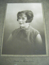 Vintage Original Cabinet Portrait Photograph of a Woman -by Horace Dudley-1920's