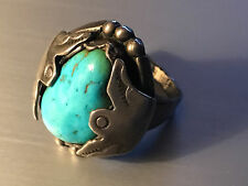 B Begay Sterling Silver Turquoise American Unique Ring Sz 10 1/4 Jewelry