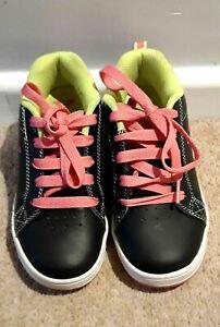 Black Pink & Green Heelies Wheeled Trainers Size 13 From Sidewalk Sports - FAB!