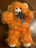 Teddy Bear Vintage Rushton stuffed animal plush 24 Inch felt tongue orange eyes