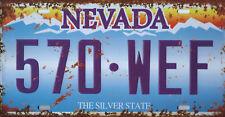 PLAQUE DE VOITURE AMERICAINE- NEVADA- NEUVE- DECORATION USA / VINTAGE