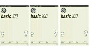 GE 41034 100-Watt 1170-Lumen A 19 Basic Light Bulb 4 Bulbs Each Pk (3-6-12 Pack)