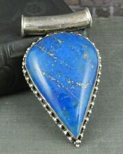 Large Sterling Silver and Lapis Pendant