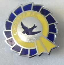 CARDIFF CITY Enamel Pin Badge FOOTBALL CLUB ROSETTE shaped design Old/Vintage