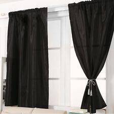 Satin Window Door Screening Curtain Blackout Drapes Panel Sheer Scarfs Valances