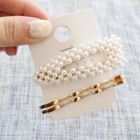 3Pcs/Set Charm Women Pearl Hairpin Hair Clip Pin Barrette Hair Accessories
