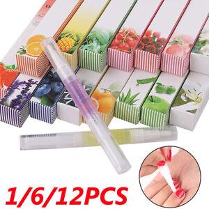 1/6/12Pc Mix Taste Cuticle Revitalizer Oil Pen Nail Art Manicure Care Treatment