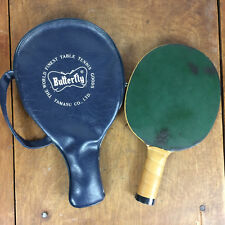 Vintage Table Tennis Ping Pong Paddle Tamasu Butterfly Japan Padded Pro w/ Case
