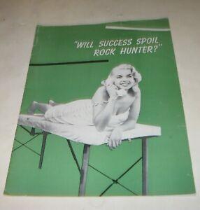 1957 WILL SUCCESS SPOIL ROCK HUNTER ? MOVIE FILM BOOK with JAYNE MANSFIELD RARE