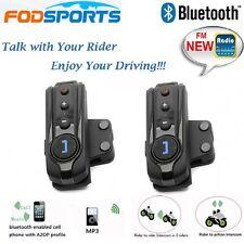BT-S1 1000m intercom Wireless Bluetooth FM Radio Motorcycle Helmet Headset FM x2