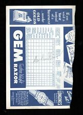 >Scarce 1950 DAN BANKHEAD *Autograph* on Baseball Program Page BROOKLYN DODGERS