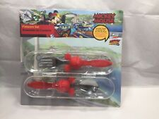DISNEY ~ MICKEY MOUSE~ FLATWARE SET WITH TRAVEL CONTAINER(SPOON/FORK)