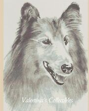 """Counted Cross Stitch Dog """"Collie"""" - Complete Kit - No. 2-Bw7 Kit"""