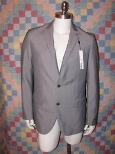 Men's Macy's BAR III Slim Fit Blazer Size 40L 2 Button Sport Coat Pinstriped
