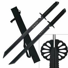 "2 PC Large Full Tang 28"" Ninja Twin Tanto Blade Sword Machete w/Nylon Sheath -SU"