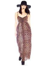 NWT One Teaspoon Sz 4 USA/ Small /8 Aus Leopard Print Surrender Maxi Dress NEW
