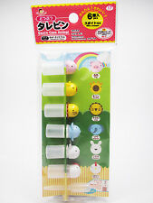 NEW BENTO LUNCH BOX ACC.- ANIMAL SAUCE BOTTLE CONTAINER 6 PCS