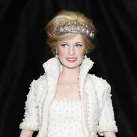 "17"" Diana Princess Of Wales Porcelain Portrait Doll By Franklin Mint."