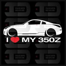 I Love My 350Z Sticker Decal Heart JDM Race Car Stance Low Bags Static Drift