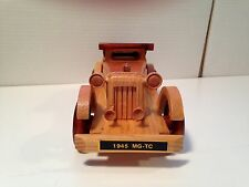 "1945 MG TC Wooden Model - 10.5 Inches Long - ""Wire Wheels"" - Mint Boxed"
