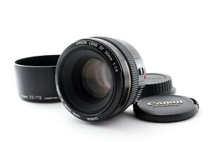Canon EF 50mm f/1.4 USM [Excellent w/ES-71II Hood From Japan [Y267]