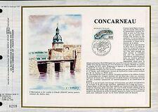 DOCUMENT CEF PREMIER JOUR 1983  TIMBRE N° 2254 CONCARNEAU REMPART