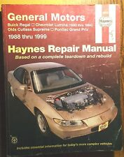 1988-1999 GM W-Body Regal, Cutlass & Grand Prix Auto Repair Service Shop Manual