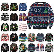 Christmas Ugly Santa Sweater Pullover Tops Jumper Sweatshirt Xmas Costume hoodie