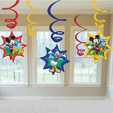 Disney Mickey Mouse CLUBHOUSE Boys Girl Birthday Party Hanging Swirl Decorations