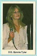 1980s Swedish Pop Star Card #510 Welsh Total Eclipse singer Bonnie Tyler