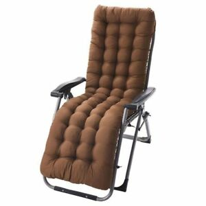 Chair Cushion Polyester Knitted Soft Lounge Seat Cover Pool Side Recliner Seat