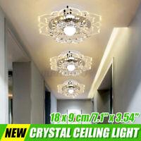 9W Kristall LED Deckenlampe Deckenleuchte Wohnzimmer Kronleuchter Flurleuchte