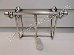 Pottery Barn Bathroom Bath Shower Bennett Magazine Rack Holder Vintage Pewter