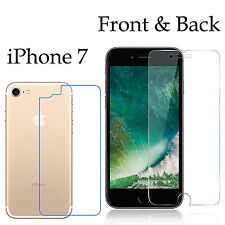 Anti-scratch 4H PET film screen protector Apple iphone 7 front + back
