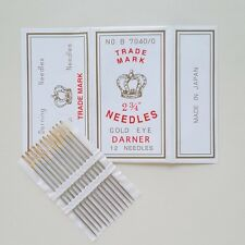 NEEDLES THICK GOLD BIG EYE  SEWING SELF-THREADING  EMBROIDERY HAND New 1 pcs.
