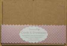 20 x A7 Quality Recycled Small Brown Kraft Card Blanks + Envelopes (Christmas)