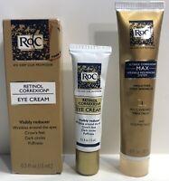 RoC Retinol Correxion Anti Aging Eye Cream (2) & (1) Resurfacing Serum  Lot of 3